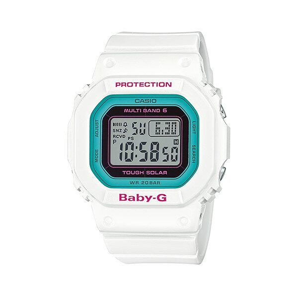 CASIO/BABY-G/カシオ ベビーG Tripper トリッパー 電波ソーラー ソーラー電波 腕時計 うでどけい レディース LADIE'S ホワイト グリーン BGD-5000-7BJF 【国内正規品】ベビーG