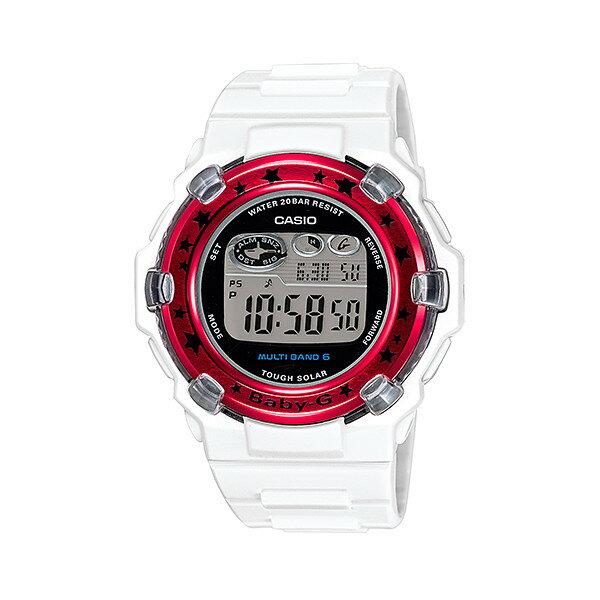 CASIO/BABY-G/カシオ ベビーG Trepper トリッパー 電波ソーラー ソーラー電波 腕時計 うでどけい レディース LADIE'S ホワイト レッド BGR-3000GS-7JF 【国内正規品】ベビーG