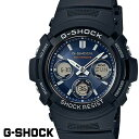 CASIO G-SHOCK ジーショック 電波ソーラー 黒 ブラック デジタル アナログ ブランド メンズ 腕時計 AWG-M100SB-2A G-SHOCK