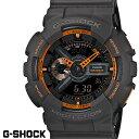 G-SHOCK ジーショク GA-110TS-1A4 腕時計 CASIO Gショック G−SHOCK デジタル アナログ メンズ デジアナ クロノグラフ オレンジ ブラック