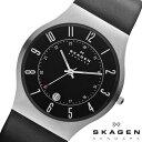 【SKAGEN スカーゲン】 233XXLSLB 腕時計 メンズ うでどけい レザー 黒 ブラック ウルトラスリム