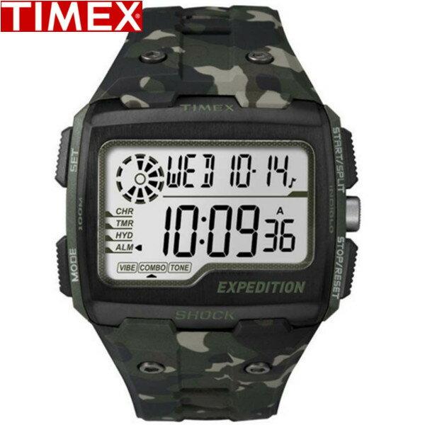 TIMEX/タイメックス/TW4B02900 エクスペディション グリッドショック メンズ Men's アウトドア カモフラージュ柄 カモ グリーン 【国内正規品】TIMEX タイメックス 腕時計 メンズ うでどけい