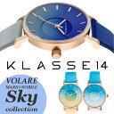【送料無料】KLASSE14 クラス14 クラッセ 腕時計 レザーベルト 36mm 42mm うでどけい ダークローズ ローズゴ—ルド スカイ ブルー イエロ- sky KLASSE14 SK17RG001W SK17RG002W SK17RG003W
