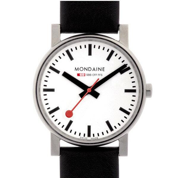 モンディーン/MONDAINE  腕時計 うでとけい クオーツ レザー ブラック A658.30300.11SBB エヴォG ホワイト 【国内正規品】