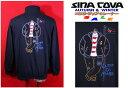 ★シナコバ<30%OFF・SINA COVA & Guest-One コラボトレーナー 限定品>秋冬ジップトレーナー<Lサイズ>紺-xr30