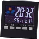 カラーウェザークロック 6140【時計 おき型 置型 卓上 置時計 デジタル カレンダー アラーム 温度 湿度 温湿度 天気予報 インテリア おしゃれ】