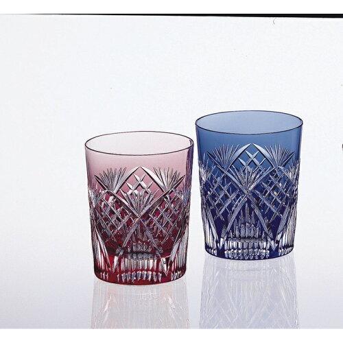 【送料無料】カガミクリスタル ペアマイグラス〈笹っ葉に斜格子紋〉 #2652