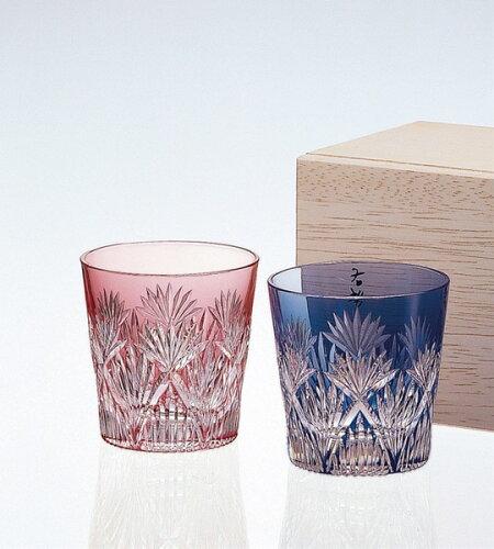 カガミクリスタル 江戸切子ペア冷酒杯 #2406