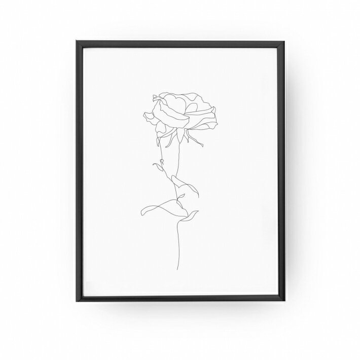 LOVELY POSTERS | ROSE PRINT | A3 アートプリント/ポスター【北欧 シンプル おしゃれ】