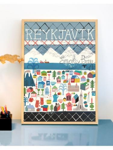 human empire reykjavik poster 50x70cm hafen. Black Bedroom Furniture Sets. Home Design Ideas