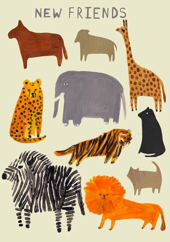萝拉啊 | 动物园列印 | 列印的 a4 艺术 / 海报