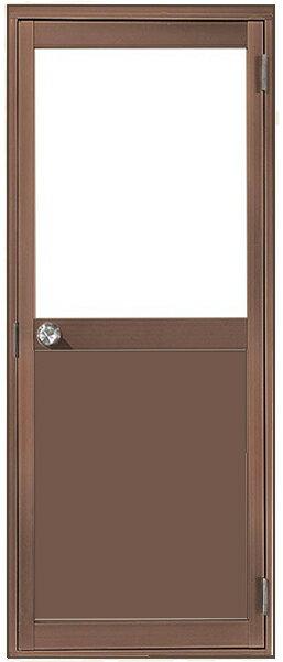 アルミサッシ トステム 内付 勝手口 框ドア W650×H1841 (06518)