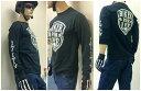 【全品ポイント2倍!】S・M・L・XL(LL)・XXL 日本未発売 米国ハーレー乗り愛用のスカル・スパナクロス長袖Tシャツです。重ね着、単独同時仕様 アメカジ ポイント消化に