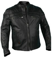 Men'sLeatherJacketwithDoublePiping