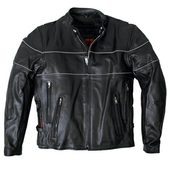 ライダースジャケット本革 メンズ シングル!米国発!キルティングのインナーは取り外しが可能!通気調整が可能なベンチレーション機能装備!  レーシング 革ジャン!日本未発売!バイクに!大きいサイズ02P26Mar16