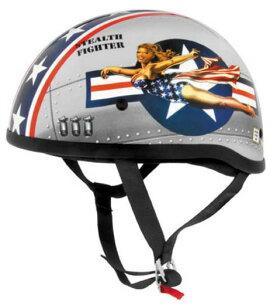ヘルメット バックル オリジナルハーフヘルメットボンバーピンアップ