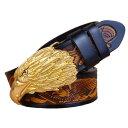 【送料無料 】全9種類 6サイズ Vintage Eagle Head Buckle Genuine Leather Belt ビンテージ イーグル ヘッド バックル ジェニュイン レザー ベルト メンズ 本革 鷲 ブラック ブラウン コーヒー バイカー ウェスタン ロック カウボーイ カウハイドレザー