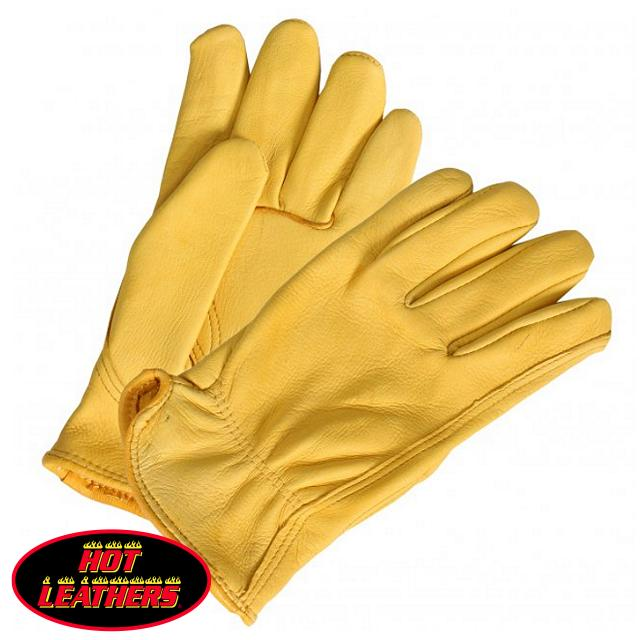 【送料無料!】日本未発売!ホットレザー [Gold Deerskin Unlined Driving Glove] ゴールド・ディアスキン・アンラインド・ドライビング・グローブ! 米国産鹿革! レザー メンズ 手袋 強度 柔軟性 耐水性 通気性 防寒性最強! ふわっふわで暖かく気持ちいい!