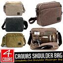 【送料無料!】全4色! [Vintage Canvas Multifunctional Shoulder Bag] ビンテージ・キャンバス・マルチファンクショナル・ショルダーバ..