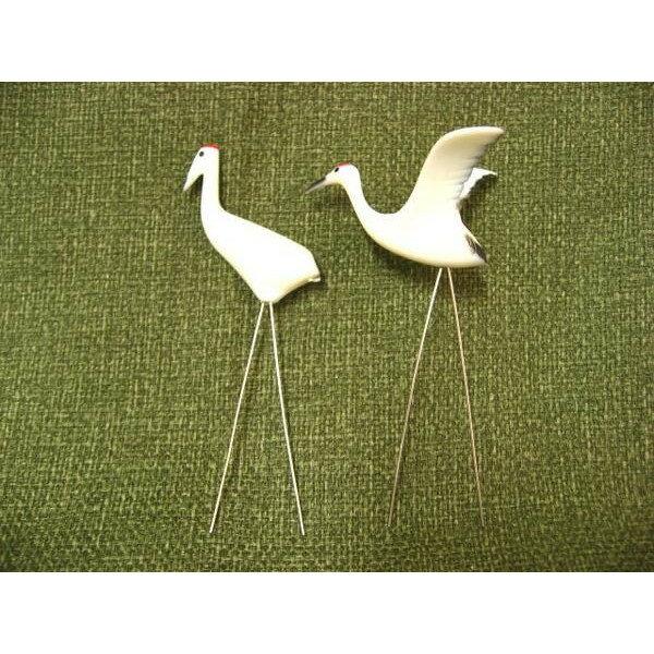 鶴ペアセット(プラスチック製) 盆景の飾りにの紹介画像2
