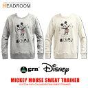 Disney 公式ライセンス grn ミッキーマウス コットン 綿 スウェット トレーナー ジーアールエヌ
