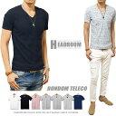 Tシャツ メンズ ランダムテレコ 半袖 Vネック カットソー アッシュカラー テレコ ゆうパケット対応