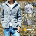 テーラードジャケット メンズ イタリアンカラーメランジフリーステーラードジャケット アウター イタリー襟 送料無料