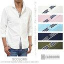リネンシャツ メンズ シャツ マリンテープ 綿麻 7分袖 カジュアルシャツ