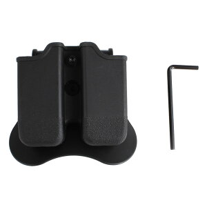 Amomax Glock エアソフトダブルマガジンポーチ Black