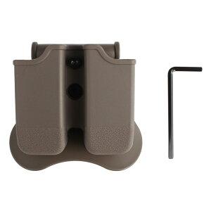 Amomax Glock エアソフトダブルマガジンポーチ FDE (G