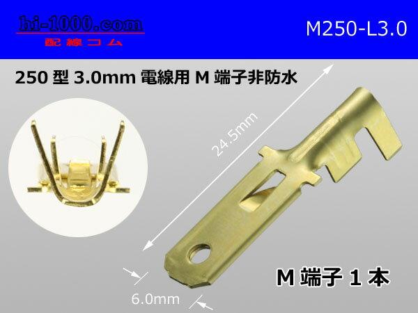 250型3.0mm電線用オス端子/M250-L-3.0の商品画像