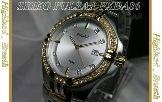 ★SEIKO pulsar Swarovski crystal PULSAR PXDA86