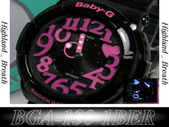 CASIO baby-g BGA-130-1 neon dial
