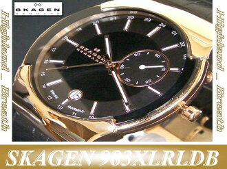 "SKAGEN ""BlackLabel"" GMT ExecutiveModel #983XLRLDB"
