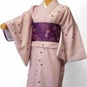 着物 レンタル 春秋冬用 レディース 袷 小紋 セット「XSサイズ」ピンク・小桜 (1133)