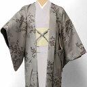 羽織 レンタル(女性用・レディース)「フリーサイズ/Fサイズ」グレー・萩(着物・はおりレンタルオプション) (7015)