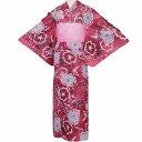 【レンタル】浴衣 レンタル/ゆかた レンタル 浴衣 セット 「XLサイズ」絽 赤 朝顔 絞り調 (5209)