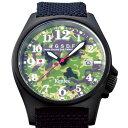 自衛隊腕時計/JGSDF陸上自衛隊レンジャー:迷彩&バリスターナイロンバンドモデル(黒)S455M-12正規品 日本製ミリタリー時計 JSDF KENTEX ケンテックス【楽ギフ_包装】