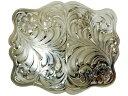 ウエスタンベルトバックル★German Silver Engraved Rectangular Belt Buckle  メンズ 男【楽ギフ...