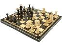 木製チェスセット31cm×31cm(ブラウン) ヨーロッパ直輸入 数量限定 盤 駒 ゲーム