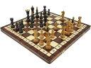 木と手作りの温もりチェリーウッド木製チェスセット44cm×44cm(ブラウン) ポーランド製 盤 駒 数量限定販売【楽ギフ_包装】