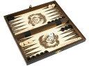バックギャモン+チェス+チェッカーセット(木製)26.5cm×26.5cm ポーランド製 Backgammon & chess & Checkers set駒盤 数量限定販売【楽ギフ_包装】