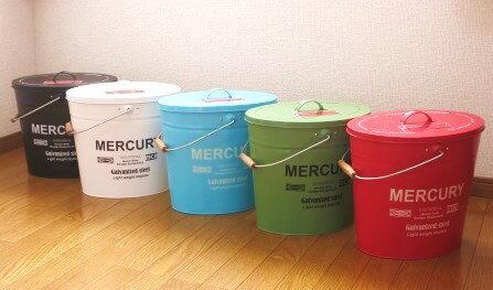 【MERCURY オーバルふた付きバケツ】ゴミ箱や小物入れにも*ナチュラル雑貨 ナチュラルインテリア