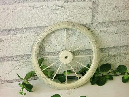 【ミニウィール(S・ホワイト)】*小さな車輪 ガーデニングやインテリア ミニチュアガーデンに