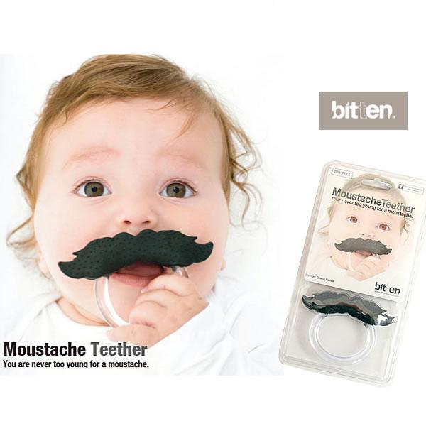 [メール便発送可]【 fiftytwoways / フィフティートゥーウェイズ 】Moustache Teether ベビー 歯固め ムスタッシュティーザー Bitten ギフトにもおすすめ!【ラッピング可】【楽ギフ_包装】 10P06Aug16