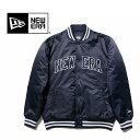 ナイロンジャンパー NEWERA / ニューエラ Nylon Varsity Jacket ナイロンバーシティジャケット メンズ サテンジャケット スタジャン 11321718