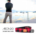 [メール便対応]The ATWOOD belt [BLACK/RED]【 ARCADE belt / アーケードベルト 】ベルト ゴムベルトスノーボード スキー...