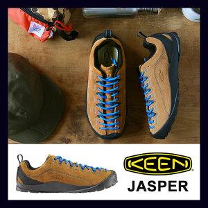 再入荷【KEEN/キーン】JASPER(BlueCoral)クライミングシューズをモチーフにデザインしたアウトドアスニーカー日本人向けのフットベットて履き心地抜群keenキーンジャスパーサンダルmenメンズあす楽