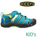 KEEN キッズ サンダル CHILDREN NEWPORT H2(Hawaiian Blue/Green Glow) [1012294]キーン チルドレン ニューポート ユース
