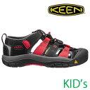 KEEN キッズ サンダル CHILDREN NEWPORT H2(Black/Racing Red Mulit) [1014238]キーン チルドレン ニューポート ユース □SP 10P18Jun16